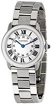 Cartier Womens W6701004 Rondo Solo Stainless Steel Bracelet Watch