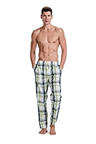 CYZ Mens Cotton Pajama Pants Woven P…
