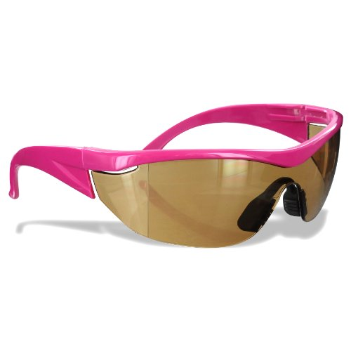 Safety Girl SC-282 Polycarbonate Navigator Safety Glasses, Amber Lens, Pink Frame (Cool Safety Glasses Z87 compare prices)