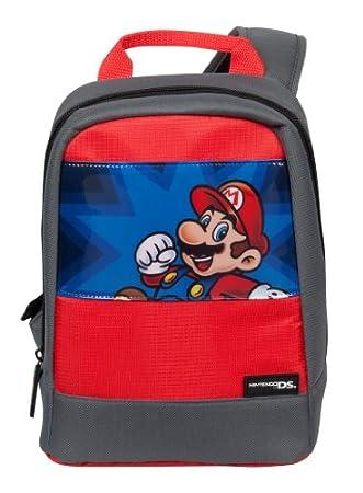 Sac à bandoulière 'Super Mario' - gris/rouge