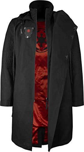 Musterbrand Star Wars Cappotto con cappuccio Uomo Sith Lord Giacca Nero L