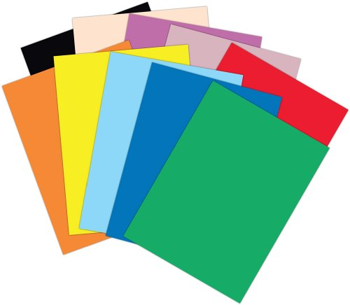 Roselle 9x12 Vibrant Construction Paper, 50 count, Assorted (CON0091250) - 1