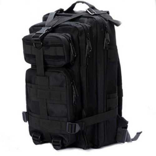 """Description    Sport Outdoor Military Rucksacks Tactical Molle Backpack Camping Hiking Trekking Bag-Black  Size:  Main Compartment:45*24*12cm/17.7*9.4*4.7""""(Height*Width*Depth)  Secondary Compartment:40*20*7cm/15.7*7.8*2.75""""(Height*Width*Depth)  Upper..."""