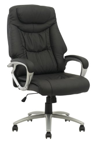 for sale new high back executive leather ergonomic office computer task chair w metal base o13. Black Bedroom Furniture Sets. Home Design Ideas