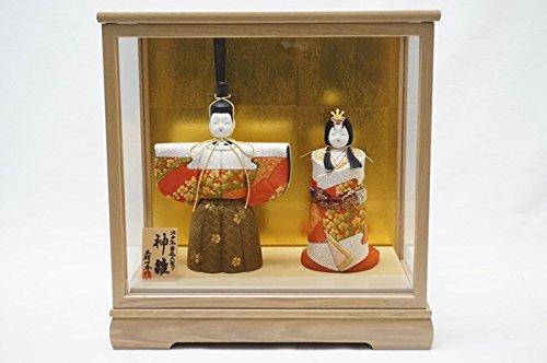 【2016年 雛人形】  ひな人形 一秀 平飾り 親王飾り 木目込み人形 神雛 切替 2-3号