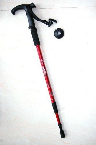 Outdoor Durable Hiker Anti-Shock Trekking / Walking / Hiking Trekking Poles Retractable Stick Adjustable Pole, 2-Pack