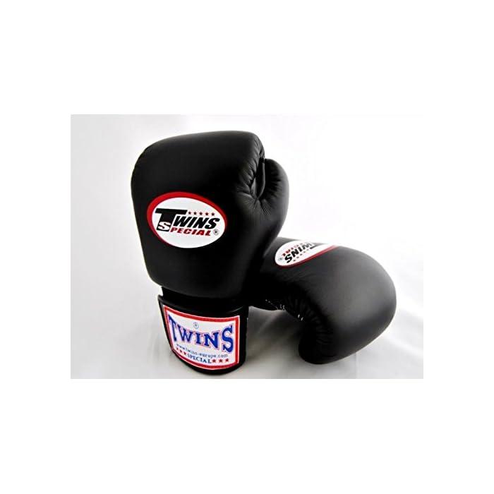 8-10-12-14-16 unica colore Nero Twins Special Muay Thai professionale per guantoni da boxe in pelle (BGVL-3): prezzi, offerte vendita online