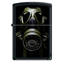 "Zippo ""Gas Mask"" Black Matte Lighter, 0241 by Zippo"