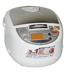 Tiger JBA-T10U 5.5 cups Microcomputer Controlled Rice Cooker- Made in Japan by Tiger
