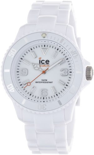 Ice-Watch Unisex Quartz Watch with White Dial Analogue Display and White Plastic or PU Bracelet SD.WE.U.P.12