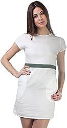 AVIRICH Women's Dress (White, L)
