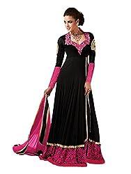 VIHA Black Women's Velvet Salwar Suit
