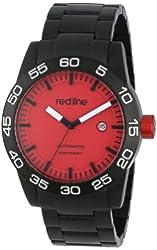 red line Men's RL-50045-BB-55 Mileage Analog Display Japanese Automatic Black Watch