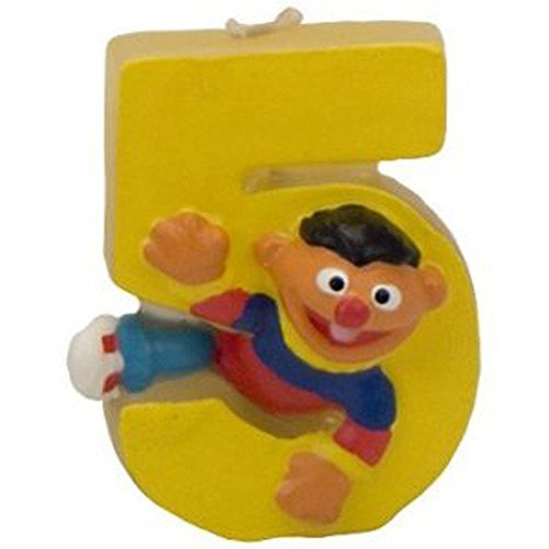 Sesame Street Ernie 5th Birthday Sculpted Cake Candle (1ct) - 1