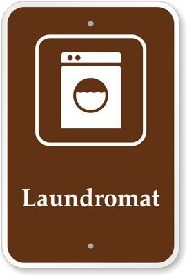"""Laundromat (With Graphic) Sign, 18"""" X 12"""""""
