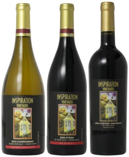 Inspiration Vineyard Sonoma County Signature Wines Mixed Pack, 3 X 750 Ml