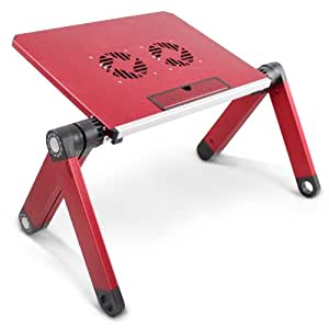 Lavolta LS-015RD Support Pliable pour Ordinateur Portable Rouge