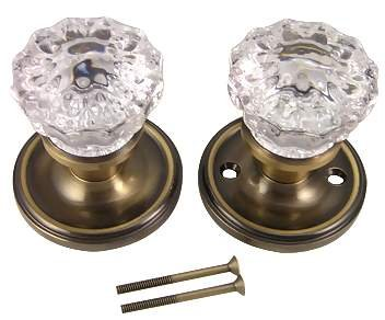 regency double dummy glass door knob antique brass finish review