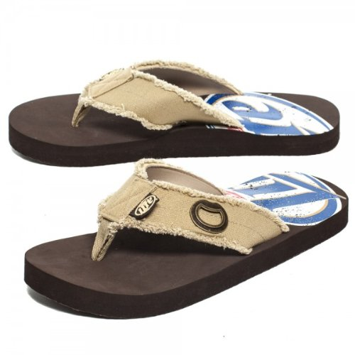 Miller Lite Brown Sandal With Bottle Opener Men'S Flip Flop Sandals Medium 8/9 Miller Lite front-65692