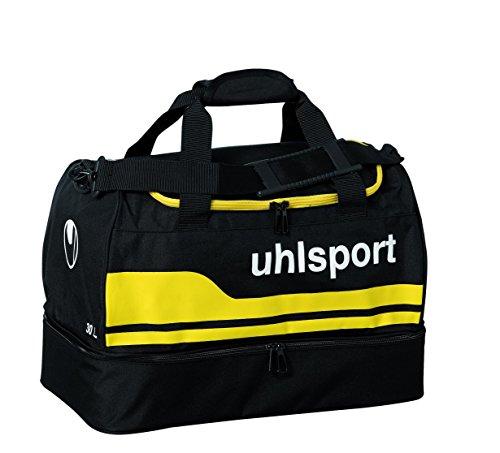 uhlsport 100424504_Schwarz/Maisgelb_S - Borsa sportiva unisex, S, colore: Multicolore nero/giallo mais