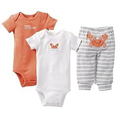 Carters Boys 3-24 Months Crab 3-Piece Pant Set