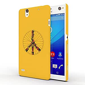 Koveru Back Cover Case for SONY XPERIA C4 - Peace and Bike