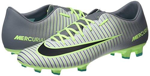 Nike Herren Mercurial Victory VI FG Fußballschuhe, Plateado (Pure Platinum / Black-Ghost Green), 41 EU -