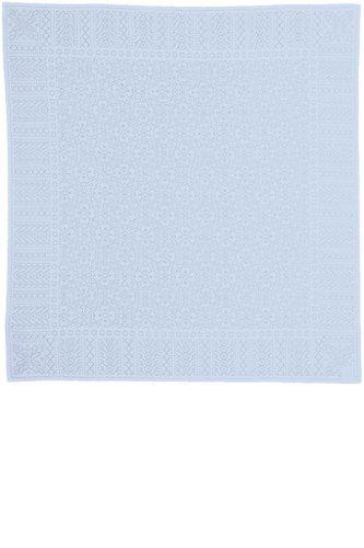 MYB Textiles Baby Shawl in Blue