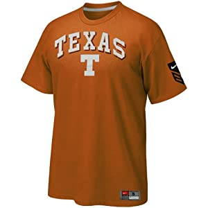 Nike texas longhorns burnt orange baseball for Texas baseball t shirt