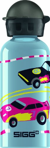 Sigg Cars Water Bottle, Grey, 0.4-Liter front-549854