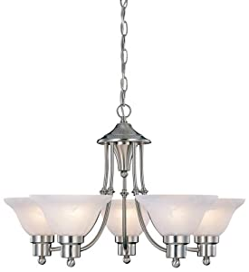 Hardware House 544452 Bristol 5-light Chandelier Brushed Nickel from Hardware House