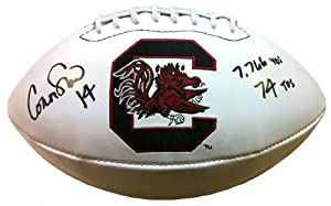 Buy Connor Shaw Autographed Signed South Carolina Gamecocks Logo Football with 7,766 Yds 74 TDs Inscription by Radtke Sports