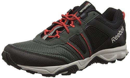 Reebok Trail Voyager Rs 2.0, Scarpe Sportive Outdoor Uomo, Nero (AR0080_39EU_Bk/DkSage/SandStone/AtcRed), 42 EU