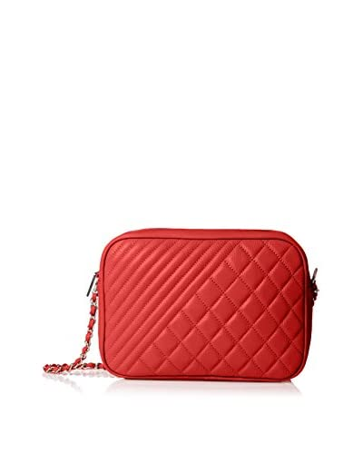 Zenith Women's Small Quilted Shoulder Bag, Red
