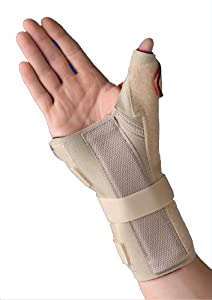 Thermoskin Carpal Tunnel Brace with Thumb Spica, Medium 17-19cm, Right by Swede-O