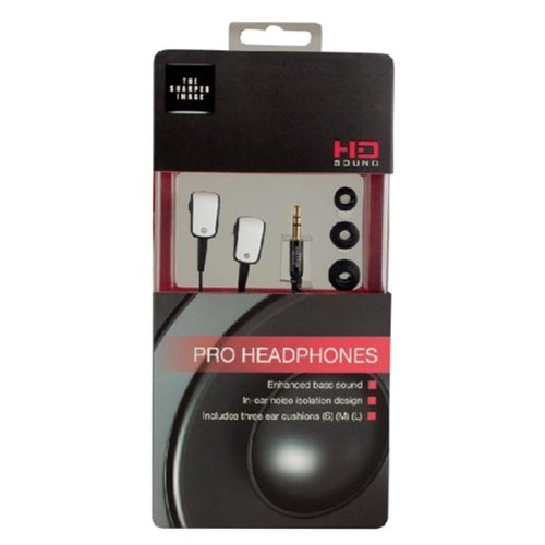 The Sharper Image Shp1100 Noise Isolating Stereo Headphones - Retail Packaging - White