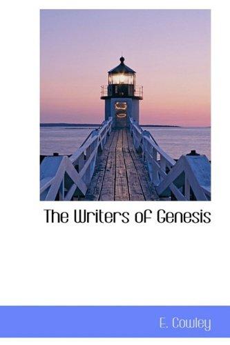 The Writers of Genesis