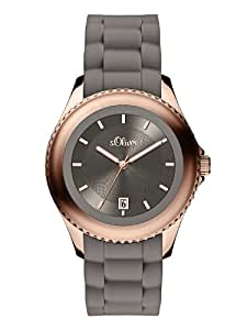 s.Oliver Damen-Armbanduhr Analog Quarz Silikon SO-2909-PQ
