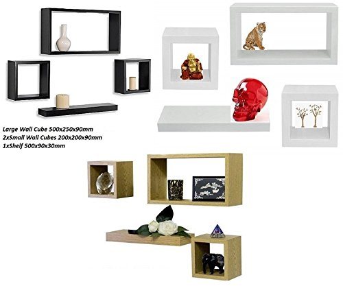 set-of-4-wood-wooden-floating-wall-cube-cubes-shelf-shelves-storage-display-unit-black