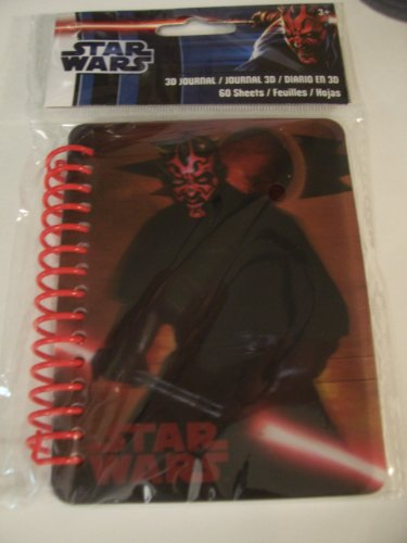 "Star Wars 3D Journal ~ Darth Maul (3.5"" x 4.5""; 60 Sheets, 120 Pages) - 1"