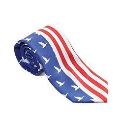 Duck Dynasty Men's Neck Tie (Duck America, Navy/Red)