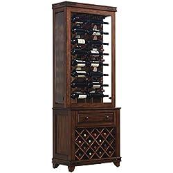 Tresanti Mayfield Top Wine Curio Cabinet, Enormous Cherry