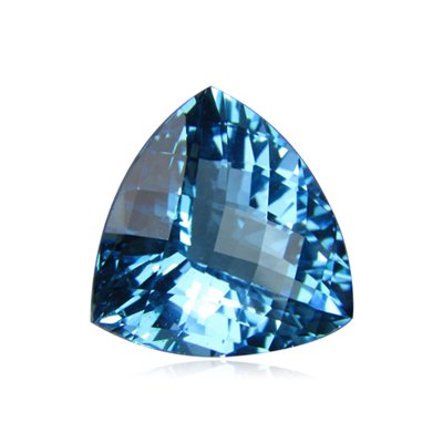 4.00 Cts of 11 mm AAA Trillion Checker Board Swiss Blue Topaz ( 1 pc ) Loose Gemstone
