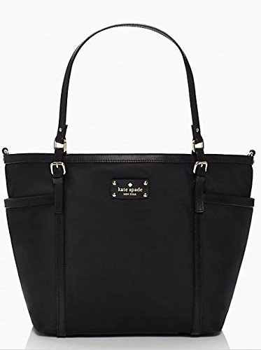 Kate Spade Union Square Black Clementine Baby Diaper Bag Shoulder Tote Bag front-268838