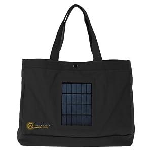 Sun-Plugged Solar Tote Bag (Black)