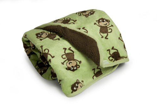 Carter's Velour Sherpa Blanket, Monkey (Discontinued by Manufacturer)