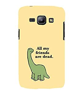 EPICCASE All my Friends are Dead Mobile Back Case Cover For Samsung Galaxy J1 (Designer Case)