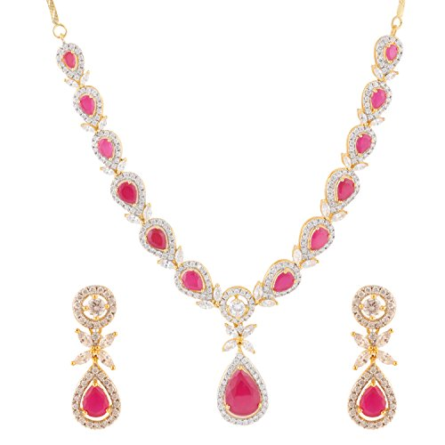 swasti-jewels-cz-zircon-fashion-jewellery-set-with-red-stones-necklace-earrings-for-women