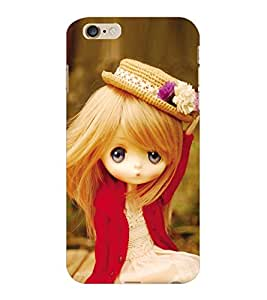 ColourCraft Lovely Doll Design Back Case Cover for APPLE IPHONE 6 PLUS