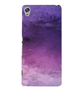 PrintVisa Purple Design 3D Hard Polycarbonate Designer Back Case Cover for Sony Xperia XA